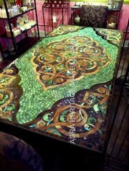 6#x27;x3#x27; Marvelous Marble Dining Contemporary Table Top Mosaic Inlay Design H4807A $4586.34