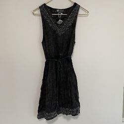 Beach by Exist Swimsuit Bathing Suit Cover Up Dress Size Large Charcoal Gray $19.99