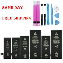 For iPhone 5 6 6S 7 8 X XS Plus Replacement Internal Battery w Adhesive Tool $10.69