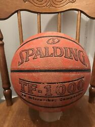 Original Spalding TF 1000 Game Ball Leather Basketball Men#x27;s 29.5 Used $39.99