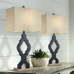 Modern Table Lamps Set of 2 Classic Moroccan Black for Living Room Bedroom $79.99