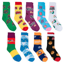 Crazy Socks Unisex Food 9 Pack Breakfast Crew Socks Novelty Fun Crazy Silly $29.00