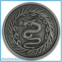 2020 Samoa Serpent of Milan 1 oz .999 Silver Coin Antique Proof Finish $44.95