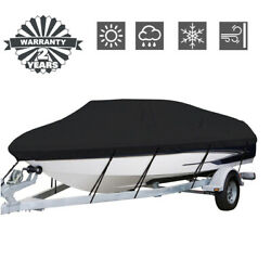 Waterproof Heavy Duty Fabric Boat Cover Trailerable Fishing Ski V Hull Runabout $34.98