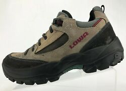 Lowa Hiking Shoes Outdoor Brown Black Lace Up Trail Trekking Sneakers Womens 7 $23.03