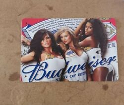 Budweiser Sexy Girls Sign for Wall Vintage Metal Tin Retro 11.8quot; x 7.8quot; $12.99