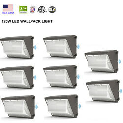 120W LED Wall Pack Light 5000K Daylight Dust to Dawn Commercial Lighting DLC ETL