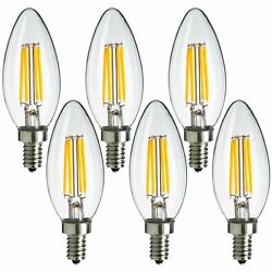 6x MaxLite LED Chandelier Bulbs 4W 40W Enclosed Fixture Rated Dimmable E12 Base $12.99