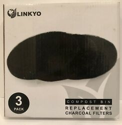 Linkyo Compost Bin Replacement Charcoal Filters 5 FILTERS $28.00