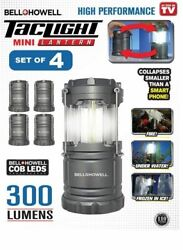 Bell Howell Ultra Bright Outdoor Tac Light Mini Collapsible Lantern 4 PACK $20.99