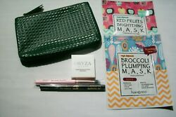 New Ipsy Glam Bag Plus Lot of 5 Ipsy Facial Beauty Products Masks Brush Liner $6.99