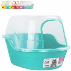 Covered Litter Box Jumbo Hooded Cat Litter Box Extra Large Teal New $70.99