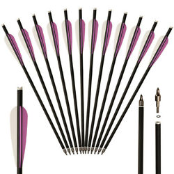 12PC 16quot; Crossbow Bolts Carbon Arrows OD 8.8MM Arrows Archery Hunting Shooting $25.91
