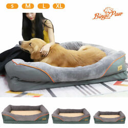 XXL Orthopedic Dog Bed Rectangular Lounge Sofa Pet Beds Bolster Couch Removable $39.95