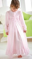 Pink Peignoir Set Girls Long Sleeve Nylon NWT Sizes 4 14 Laura Dare $35.69
