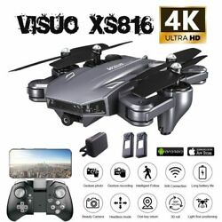 VISUO XS816 2.4G RC Drone FPV WiFi 4K Ultra Dual Camera Foldable Quadcopter X1E6 $61.73