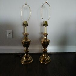 PAIR OF BALDWIN SOLID BRASS TABLE LAMPS $250.00