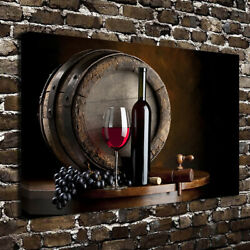 Grape wine modern wall art canvas oil painting for home kitchen room decor $9.90
