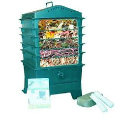 5 Tray Worm Factory Farm Compost Small Compact Bin Set For Indoor amp; Outdoor New $117.99