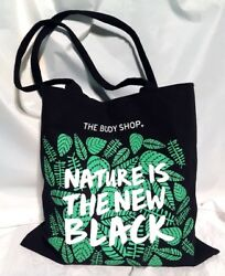 Brand New The Body Shop Tote Bag Nature Is The New Black $12.99