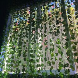 Fake Ivy Leaves Artificial Greenery vines for decor room wedding decor garland $8.99