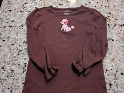 size 5** Gymboree Brown and pink poodle girls long t shirt VG condition $3.99