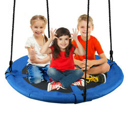 40quot; Kids Round PE Rope Tire Saucer Oxford Tree Swing Web Net Nest 440lbs Max USA $36.88