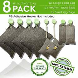 8 Pack Air Purifying Bag Nature Fresh Style Charcoal Bamboo Purifier Mold Odor $18.17