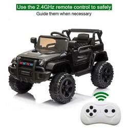 BLACK 12V Kids Ride on Truck Battery Powered Electric Car W Remote Control Safe $149.95