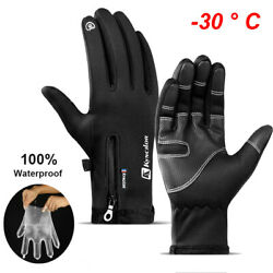 Winter Warm Gloves Waterproof All Finger Touch Screen Running Gloves for Cycling $9.98