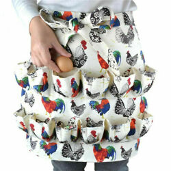 Farmhouse Kitchen Home Egg Collecting Apron Antifouling Cotton 12 Pockets $10.52