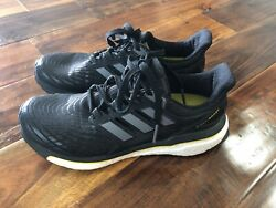 Adidas Energy Boost Running Shoes Black Yellow White Men Size 7 US 6.5 UK CQ1762 $26.99
