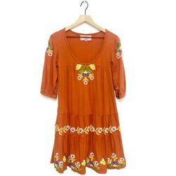Johnny Was Embroidered Floral Bohemian Dress $99.99