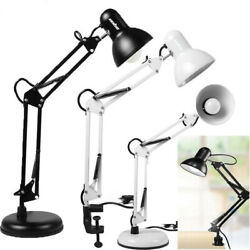 Super Bright Desk Lamp Swing Arm With LED Bulb amp; Clamp Metal Home Office Light $22.92