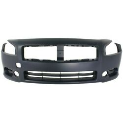 Front Bumper Cover For 2009 2014 Nissan Maxima w fog lamp holes Primed