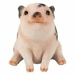 Pacific Giftware PT Realistic Look Statue Farm Baby Pig Piglet Sitting Home $19.99