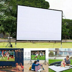 Portable Foldable Projector Screen 16:9 HD Home Cinema Theater 3D Movie Hot Sale $15.99