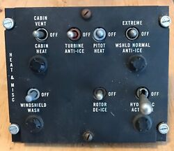 Avionic Products C219MI Helicopter Control Panel Heat amp; Misc $50.00