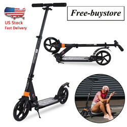 Kick Scooter Foldable Scooter For Adult Kids Portable Ride Adjustable Height BK $67.89