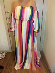 NWT Fashion Nova maxi dress size 1X $25.60
