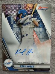 KODY HOESE 2019 Bowmans Best ON CARD AUTO RC Los Angeles Dodgers $9.95