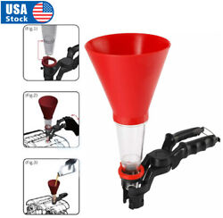 Fuel Oil Funnel Adjustable For Gasoline Engine Car Auto Motorcycle Automotive $13.98