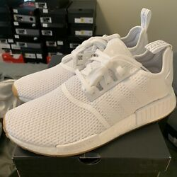 Adidas NMD R1 Cloud White Gum Men's Shoes D96635 Size 10 Mens New $100.00
