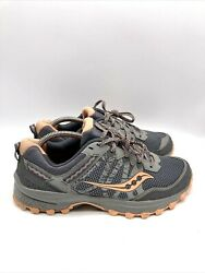 Saucony Grid Excursion TR12 Womens Hiking Trail Running Shoes Gray Size 9.5W $41.64