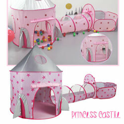 Princess Castle Play House Kids Portable Play Tent Indoor Outdoor BabyGift Pink $36.99
