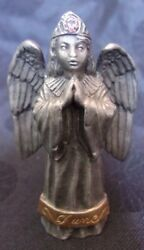 JUNE Angel with Birthstone in Crown HUDSON FINE PEWTER 1995 USA $9.99