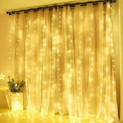 300 600LED Curtain Fairy Hanging String Lights LED Home Wedding Party 8 Modes rP