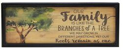 Our Family Is Like The Branches Of A Tree Farmhouse Sign Rustic Wall Decor Print $14.99