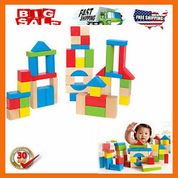 Maple Wood Kids Building Blocks Stacking Wooden Block Educational Toy Set For To $17.38