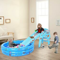 Toddler Slide Climber Indoor Outdoor Kids Playground Toy Play With Ball Pool Z8 $136.49
